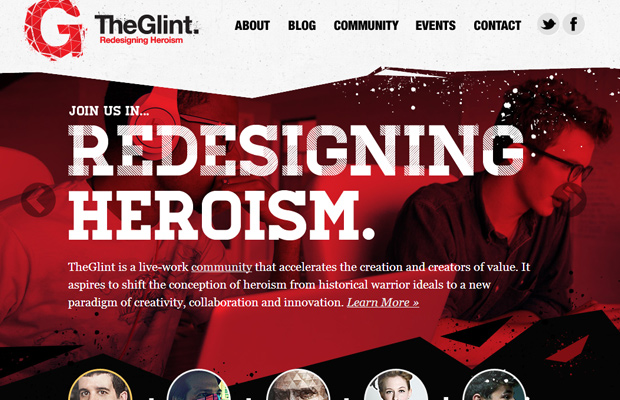 red redesign homepage layout inspiring website