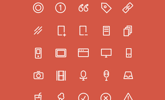 3px clean line iconset freebie