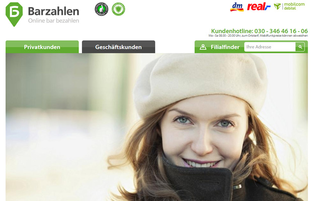 barzahlen website german homepage sales