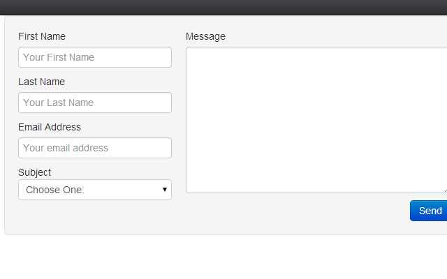 css html5 bootstrap interface contact form open source
