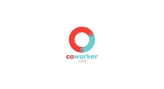 colorful logo bright circle coworker