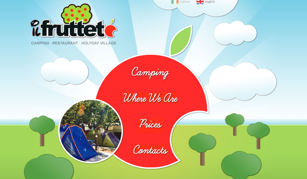 Il Frutetto camping web design nature