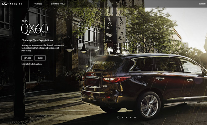 luxury sedan cars inifinity website