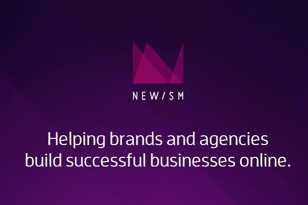 Newism web design studio homepage layout purple colors