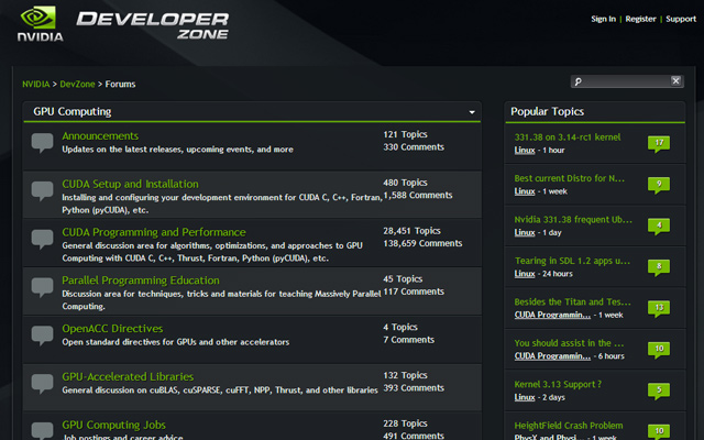 nvidia graphics development forum layout