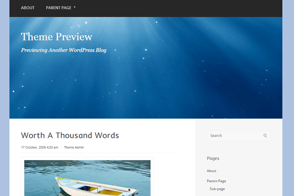 wordpress free theme ui paradise design