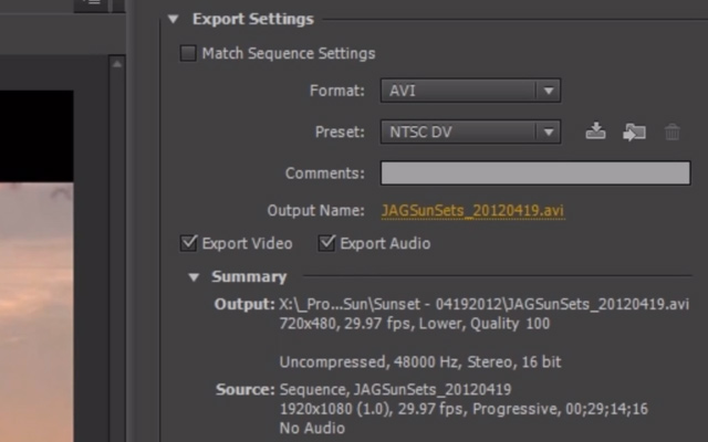 save export video tutorial howto premiere pro