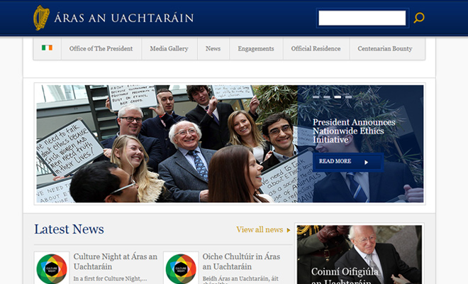 president of ireland government website