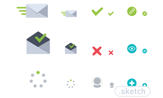 freebie sketch iconset simple icons