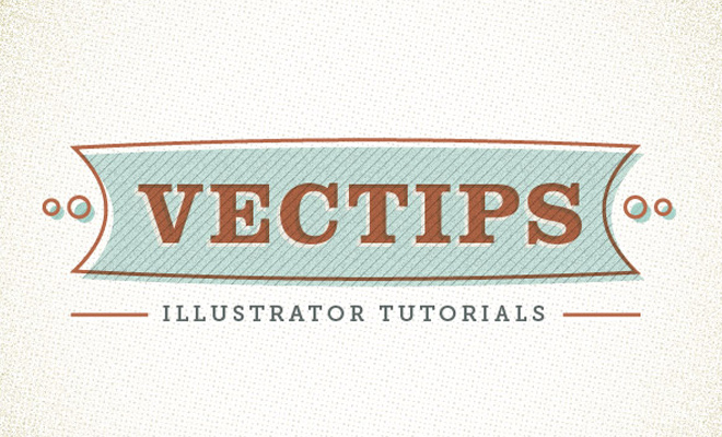 retro type banner vector design