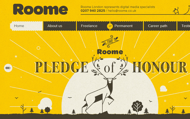 roome london yellow website design inspiration