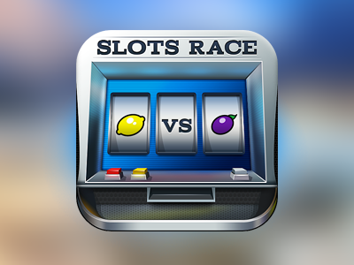 slot machine race app icon design