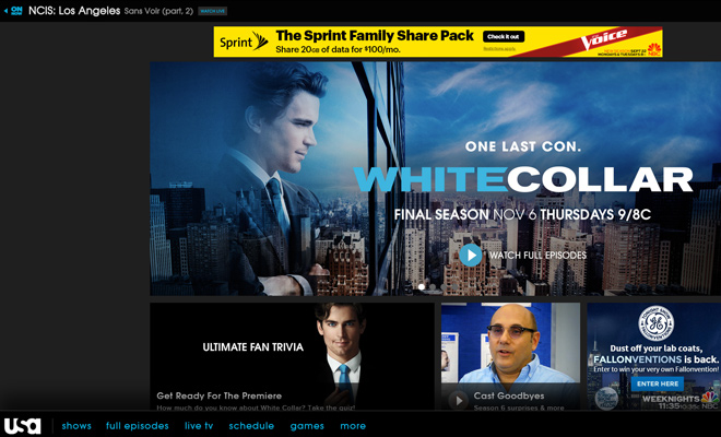usa network tv channel website homepage