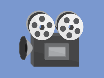 film camera illustration vector icons