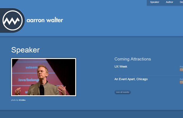 aaron walter blue website layout inspiring