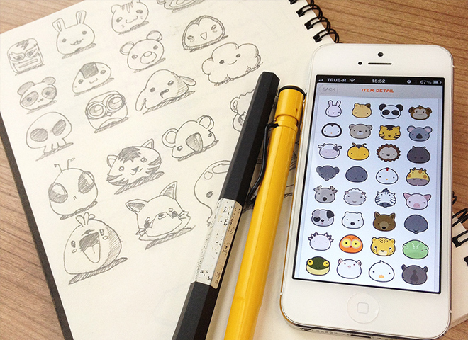 animal parade icons sketches design graphics
