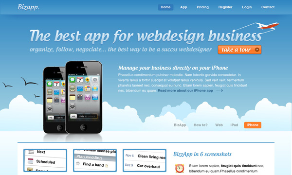 BizApp Mobile iPhone Layout Tutorial for Photoshop