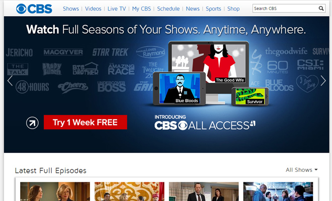 cbs tv network primetime channel website
