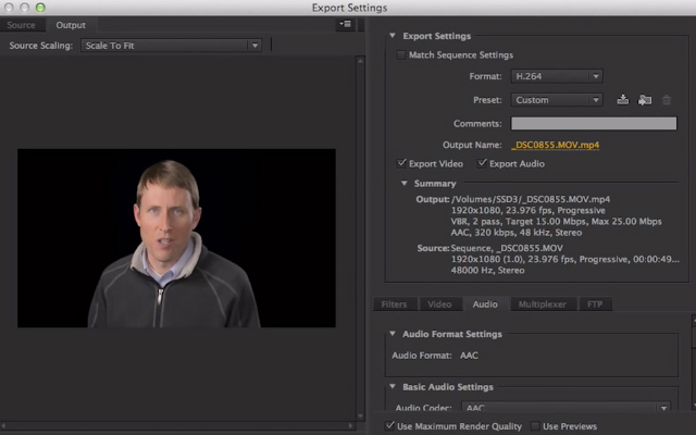 premiere pro cs6 cc export video howto youtube hidef