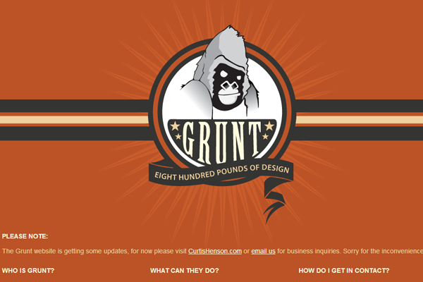 Grunt web design agency portfolio orange