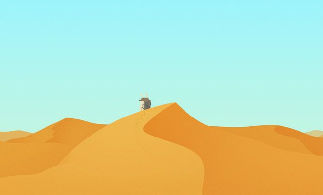 hopper desert sands design vector