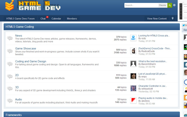 html5 game development forums help howto