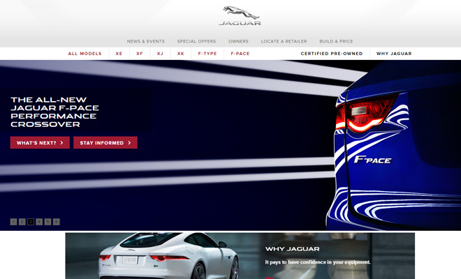 jaguar cars homepage automobiles