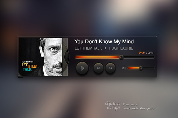 album artwork player music ui design