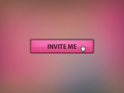 pink dribbble freebie invitation button PSD