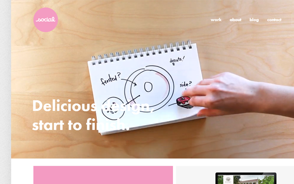 pink cute website agency studio layout