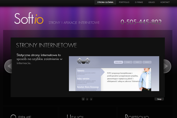 purple website layout design homepage inspiration
