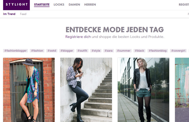 stylight clean german deutch website fashion typography tags