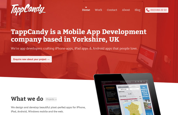 tappcandy website red inspiration homepage