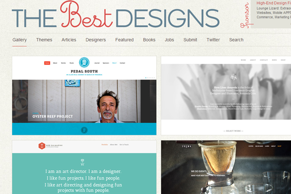 best website designs interface inspiration