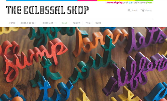 colossal shop website ecommerce shopify