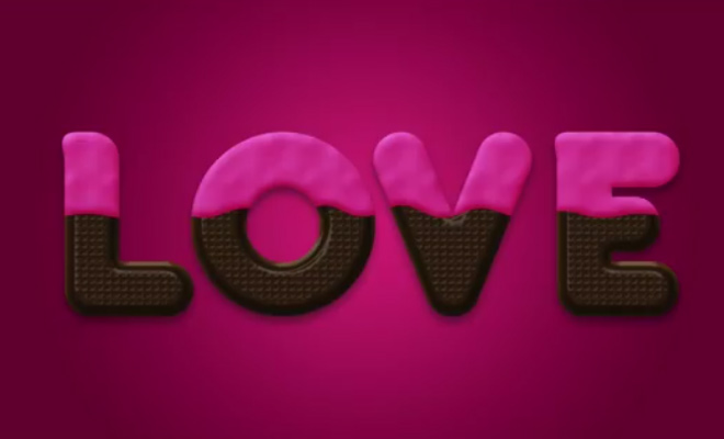chocolate text effect photoshop valentines day