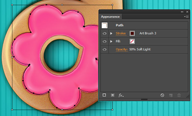 delicious donut font text illustrator