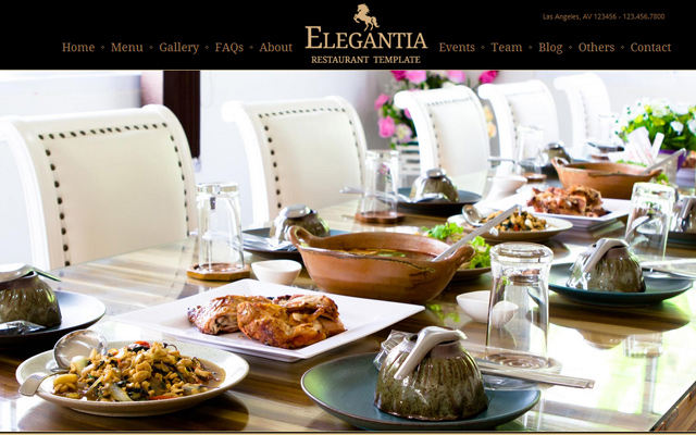 luxury cafe restaurant elegantia html5 template
