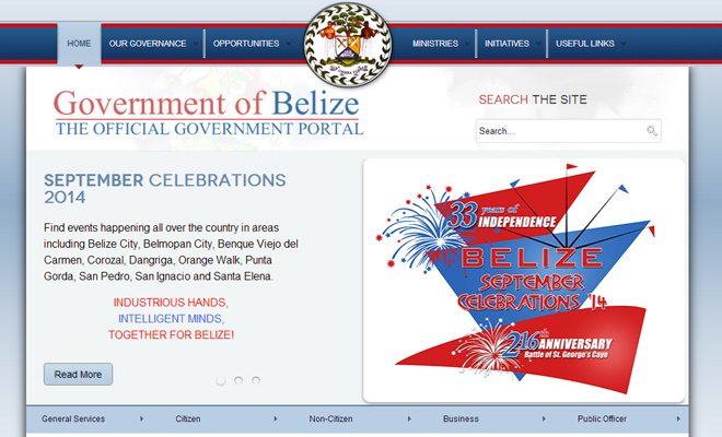 government of belize webiste