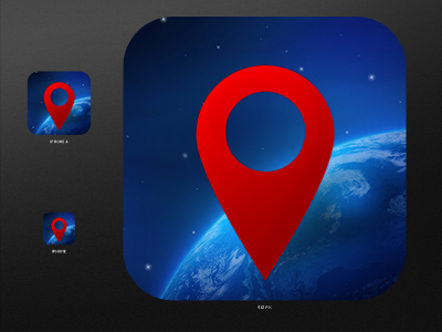 Globe Icon design iPhone App