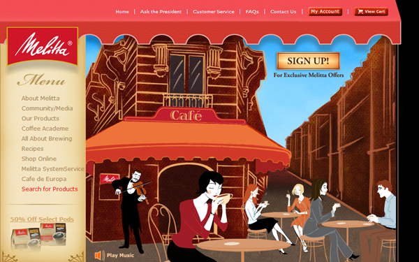 website restaurant seinfeld coffee roaster designs