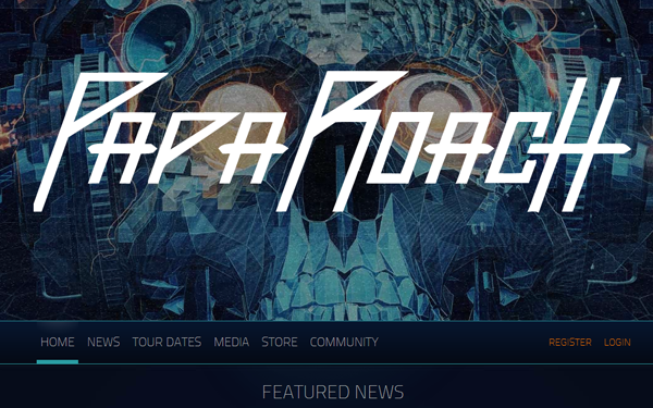 music band website paparoach musical