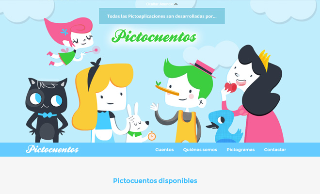 pictocuentos pictograms website learning kids
