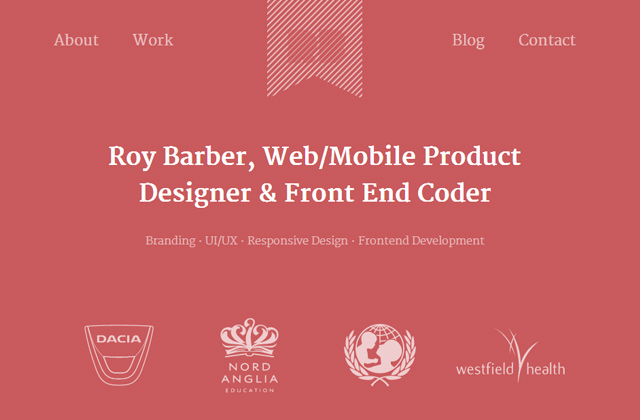 roy barber website design flat inspiring layout