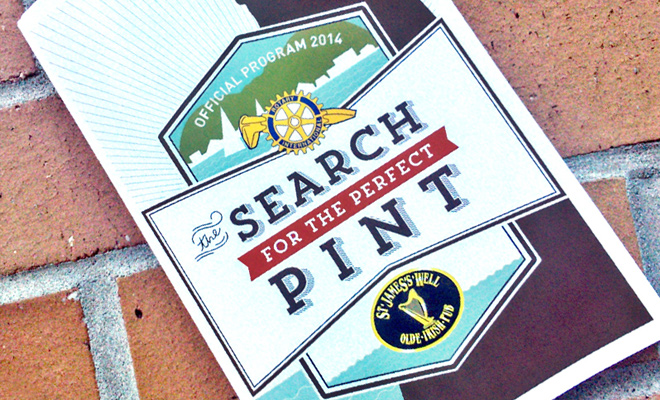 search for perfect pint beer print advertisement
