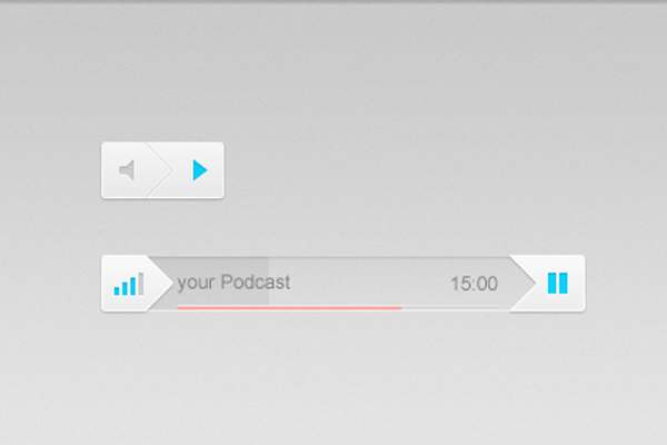 audio controls interface ui design