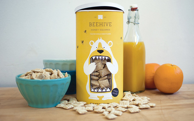 beehive honey squares design package interface