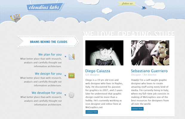 layout photoshop cloudis howto tutorial website