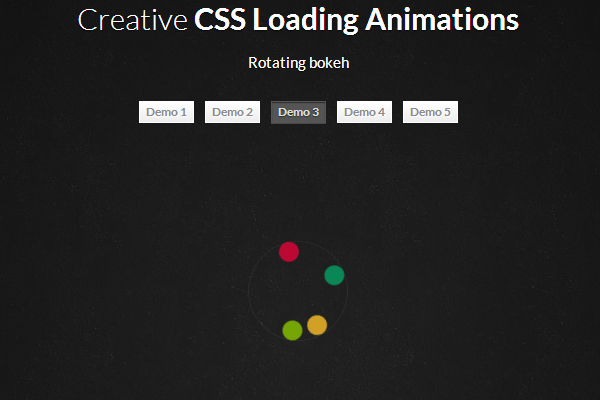 CSS3 animated loading ajax images