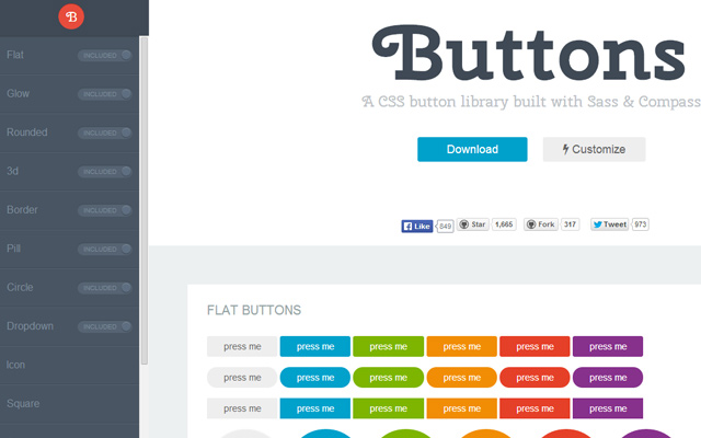 free open source css buttons download
